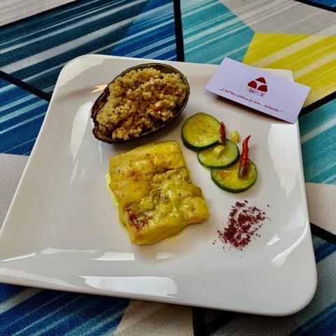 Rybie karí s kokosovým mliekom a pšenom